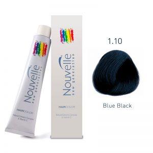 Nouvelle - Permanent Hair Color 1.10/Blue Black 100ml