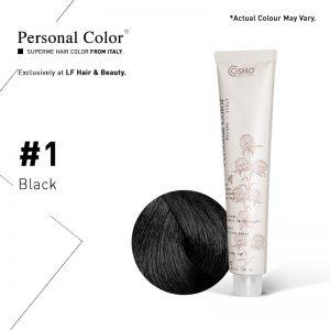 Cosmo Service Personal Color Permanent Cream 1 Black 100ml