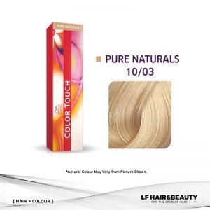 Wella Color Touch Semi-Permanent Cream 10/03 - Lightest Blonde Natural Gold 60g