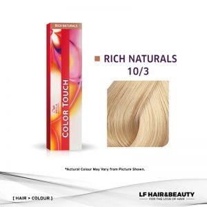 Wella Color Touch Semi-Permanent Cream 10/3 - Lightest Blonde Gold 60g