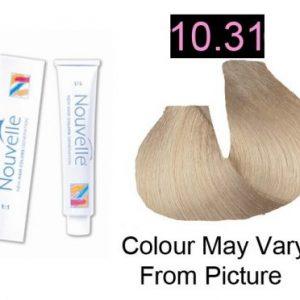 Nouvelle - Permanent Hair Color 10.31/Extra Light Golden Ash Blonde 100ml