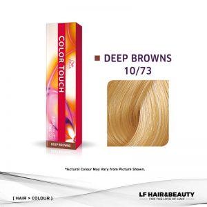 Wella Color Touch Semi-Permanent Cream 10/73 - Lightest Blonde Brown Gold 60g