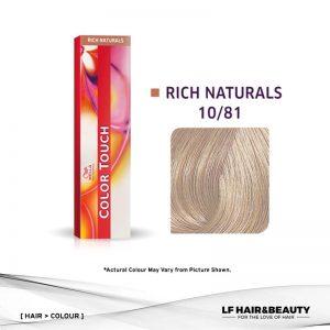 Wella Color Touch Semi-Permanent Cream 10/81 - Lightest Blonde Pearl Ash 60g