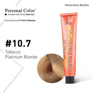 Cosmo Service Personal Color Permanent Cream 10.7 - Tobacco Platinum Blonde 100ml