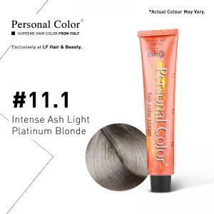 Cosmo Service Personal Color Permanent Cream 11.1 - Intense Ash Light Platinum Blonde 100ml