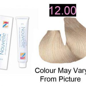 Nouvelle - Permanent Hair Color 12.00 Ultra Light Blonde Plus 100ml