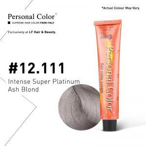 Cosmo Service Personal Color Permanent Cream 12.111 - Intense Super Platinum Ash Blond 100ml