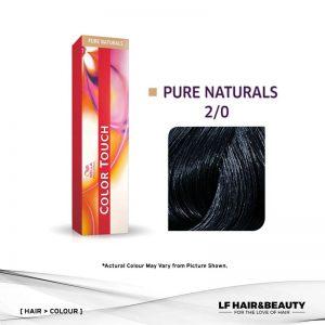 Wella Color Touch Semi-Permanent Cream 2/0 - Black 60g