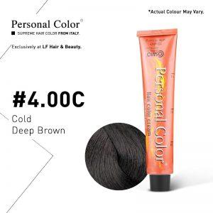 Cosmo Service Personal Color Permanent Cream 4.00C - Cold Deep Brown 100ml