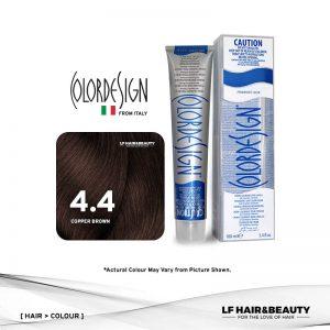 Color Design Permanent Hair Color 4.4 Copper Brown 100ml