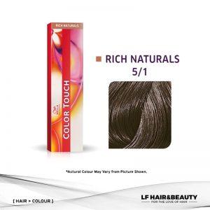 Wella Color Touch Semi-Permanent Cream 5/1 - Light Brown Ash 60g