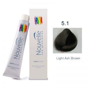 Nouvelle - Permanent Hair Color 5.1/Light Ash Brown 100ml