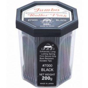 555 - Jumbo Roller pins 3'' Black 200g