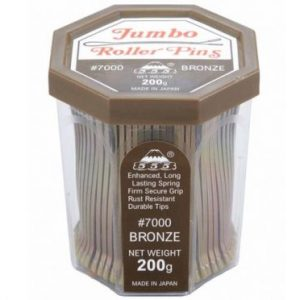 555 - Jumbo Roller pins 3'' Bronze 200g