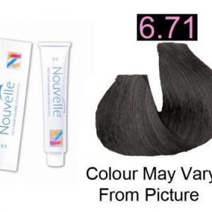 Nouvelle - Permanent Hair Color 6.71 Graphite 100ml
