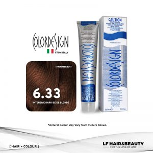 Color Design Permanent Hair Color 6.33 Intensive Golden Dark Blonde 100ml