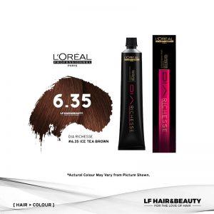 Loreal Dia Richesse Semi Permanent Hair Color 6.35 Ice Tea Brown 50ml