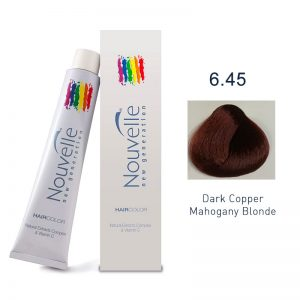 Nouvelle - Permanent Hair Color 6.45/Dark Copper Mahogany Blonde 100ml