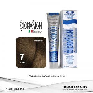 Color Design Permanent Hair Color 7 Blonde 100ml