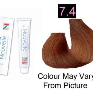 Nouvelle - Permanent Hair Color 7.4/Copper Blonde 100ml