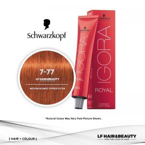Schwarzkopf Igora Royal 7-77 Medium Blonde Copper Extra 60ml