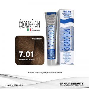 Color Design Permanent Hair Color 7.01 Ash Natural Blonde 100ml