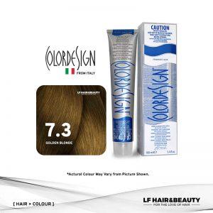 Color Design Permanent Hair Color 7.3 Golden Blonde 100ml