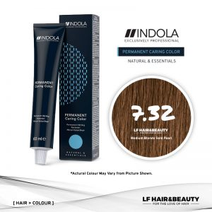 Indola Permanent Caring Color 7.32 Medium Blonde Gold Pearl 60ml