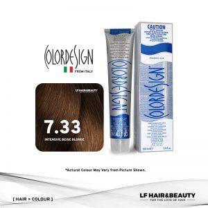 Color Design Permanent Hair Color 7.33 Intensive Golden Blonde 100ml