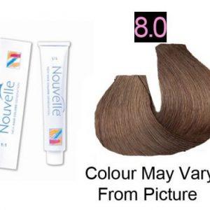 Nouvelle - Permanent Hair Color 8.0/Light Blonde Plus 100ml
