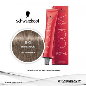 Schwarzkopf Igora Royal 8-1 Light Blonde Cendre 60ml