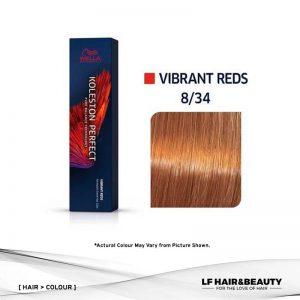 Wella Koleston Perfect Permanent Cream 8/34 - Light Blonde Golden Red 60g