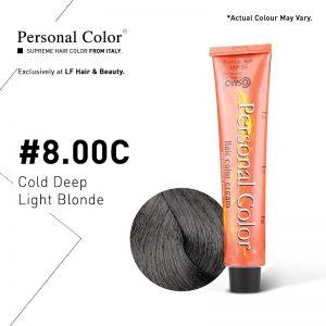 Cosmo Service Personal Color Permanent Cream 8.00C - Cold Deep Light Blonde 100ml