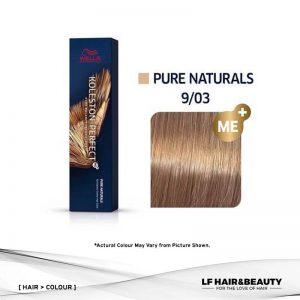 Wella Koleston Perfect Permanent Cream 9/03 - Very Light Blonde Natural Gold 60g