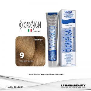 Color Design Permanent Hair Color 9 Very Light Blonde 100ml