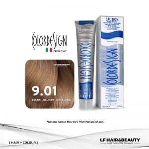Color Design Permanent Hair Color 9.01 Ash Nat Very Light Blonde 100ml