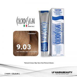 Color Design Permanent Hair Color 9.03 Soft Natural Very Light Blonde 100ml