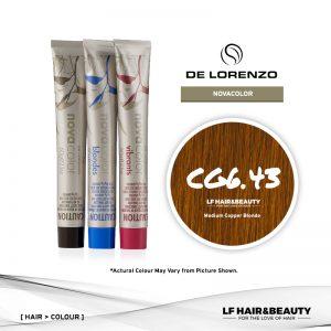 De Lorenzo NovaColor Permanent Colour CG6.43 - Medium Copper Blonde 60g