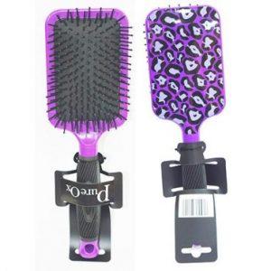 Purple, White and Black Leopard Hair Brush