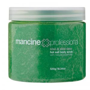 Mancine Hot Salt Scrub - Kiwi & Aloe Vera 520g