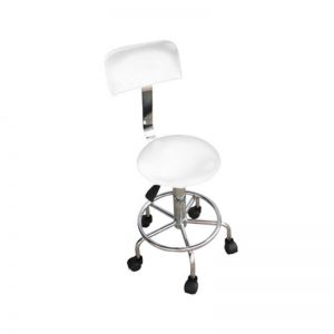 Max Master Chair WHITE SHORT GASS (CH-817) - RING BASE