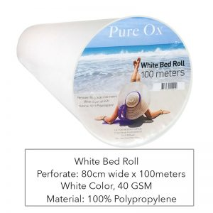 White Bed Roll Pure Ox - 100meters
