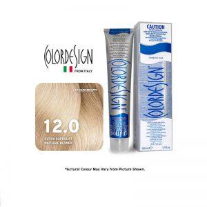Color Design Permanent Hair Color 12.0 Extra Super Platinum Natural Blonde 100ml