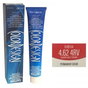 Color Design Permanent Hair Color 4.62 4RV Auburn Violet Brown 100ml