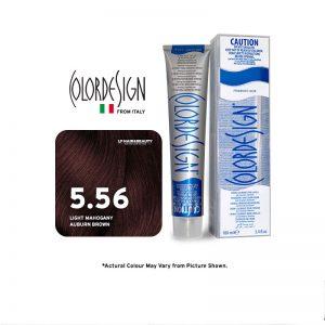 Color Design Permanent Hair Color 5.56 - Light Mahogany Auburn Brown 100ml