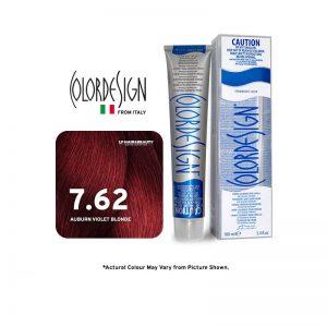 Color Design Permanent Hair Color 7.62 Auburn Violet Blonde 100ml
