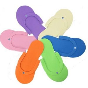 Disposable Thongs Assorted Color 6 Pair