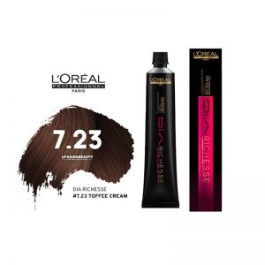 Loreal Dia Richesse Semi Permanent Hair Color 7.23 Toffee Cream 50ml