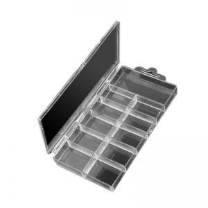 Acrylic Clear False Nail Tips Empty Storage Box Case
