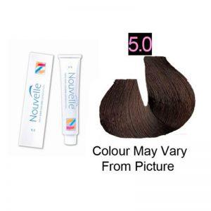 Nouvelle - Permanent Hair Color 5.0/Light Brown Plus 100ml
